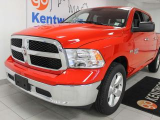 Used 2018 RAM 1500 SLT 4x4 5.7L Hemi crew cab. Bold red to go with everything for sale in Edmonton, AB