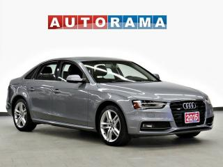 Used 2015 Audi A4 S-LINE TFSI QUATTRO PROGRESSIV PKG NAVIGATION for sale in Toronto, ON
