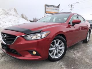 Used 2014 Mazda MAZDA6 GS Loaded! w/ NAV, Leather, Sunroof, Heated Seats, BackupCam, Bluetooth and Full Pwr Equipment! for sale in Kemptville, ON
