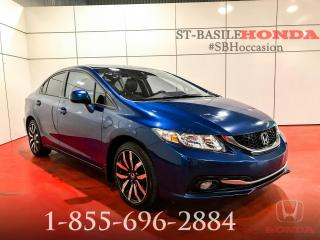 Used 2013 Honda Civic TOURING + MAG + CUIR + BLUETOOTH + WOW ! for sale in St-Basile-le-Grand, QC