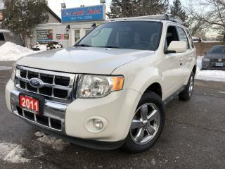 Used 2011 Ford Escape 4WD 4dr V6 Auto Limited leather sunroof acddident free for sale in Brampton, ON
