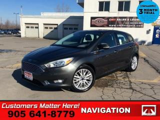 Used 2016 Ford Focus Titanium  NAV LEATH ROOF CAM HS P/GATE PARK-SENS for sale in St. Catharines, ON