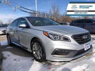 Used 2016 Hyundai Sonata SPORT TECH | LOCAL TRADE-IN | NAVIGATION | PANORAMIC SUNROOF  - $163.29 B/W for sale in Brantford, ON