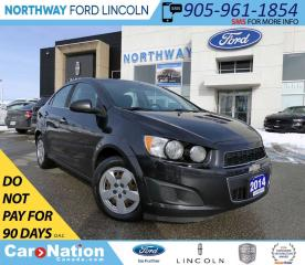Used 2014 Chevrolet Sonic LT | KEYLESS ENTRY | CRUISE | AUTO HEADLIGHTS | for sale in Brantford, ON
