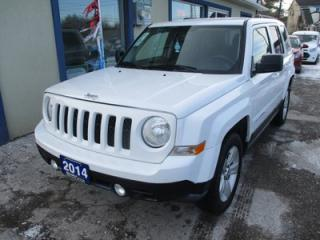 Used 2014 Jeep Patriot POWER EQUIPPED NORTH EDITION 5 PASSENGER 2.4L - DOHC.. 4X4.. CD/AUX INPUT.. BLUETOOTH SYSTEM.. for sale in Bradford, ON