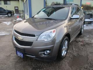 Used 2012 Chevrolet Equinox LOADED LTZ MODEL 5 PASSENGER 2.4L - ECO-TEC.. AWD.. LEATHER.. HEATED SEATS.. NAVIGATION.. SUNROOF.. BACK-UP CAMERA.. for sale in Bradford, ON