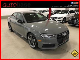 Used 2018 Audi A4 Sedan QUATTRO S-LINE BLACK TECHNIK 6 SPEED ! for sale in Vaughan, ON