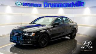 Used 2015 Audi A4 S-LINE + GARANTIE + TOIT + MAGS + CUIR + for sale in Drummondville, QC