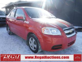 Used 2009 Chevrolet Aveo 4D Sedan for sale in Calgary, AB