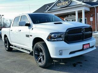 Used 2018 RAM 1500 Sport Night 4x4, Leather Heated/Vented Seats, NAV, Remote Start, Back Up Cam for sale in Paris, ON
