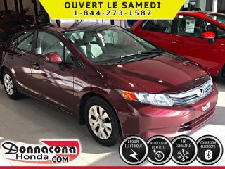 Used 2012 Honda Civic LX ***PNEUS HIVER***BLUETHOOTH***PRISE U for sale in Donnacona, QC