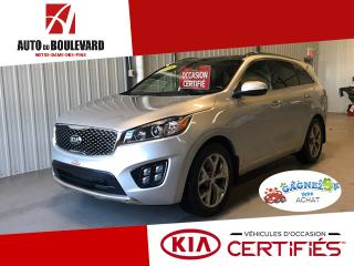 Used 2016 Kia Sorento SX AWD GPS TOIT CUIR BAS KILO for sale in Notre-Dame-des-Pins, QC