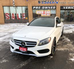 Used 2015 Mercedes-Benz C-Class C400 4MATIC/AMG APPEARANCE/BLIND SPOT/NAVI for sale in North York, ON