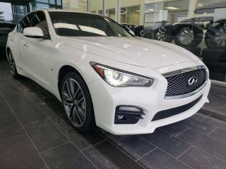 Used 2015 Infiniti Q50 SPORT, HEATED STEERING, NAVI, REAR VIEW CAMERA for sale in Edmonton, AB