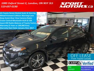 Used 2017 Toyota Corolla LE+Toyota Sense+Sunroof+Heated Seats & Steering+AC for sale in London, ON