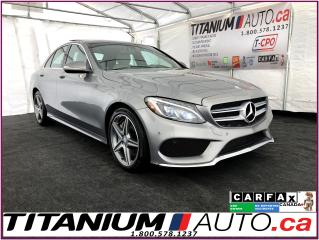 Used 2015 Mercedes-Benz C-Class AMG PKG.-4Matic-GPS-Camera-Pano-Blind Spot-Sensors for sale in London, ON