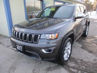 Used 2017 Jeep Grand Cherokee LOADED LIMITED EDITION 5 PASSENGER 3.6L - V6.. 4X4.. LEATHER.. HEATED SEATS.. NAVIGATION.. SUNROOF.. BACK-UP CAMERA.. BLUETOOTH.. for sale in Bradford, ON