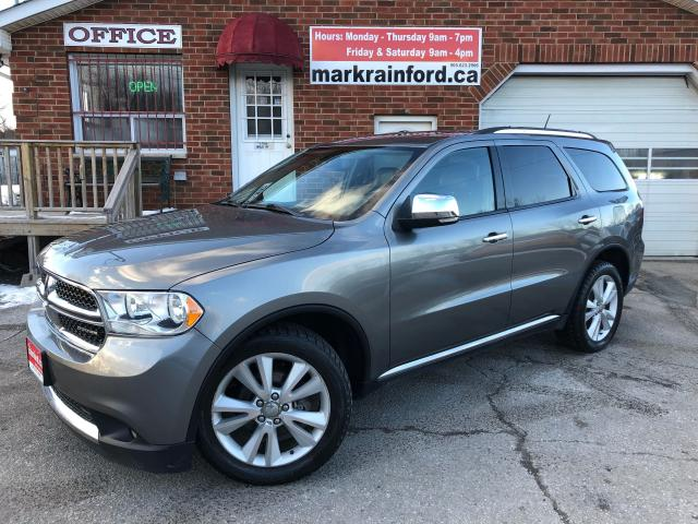 2012 Dodge Durango Crew Plus V6 DVD Nav Sunroof Leather Back up Cam