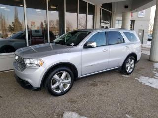 Used 2011 Dodge Durango CITADAL; FULLY LOADED NAV, 7PASS, LEATHER, BACKUP CAM, HEATED SEATS, DVD, AND MORE for sale in Edmonton, AB