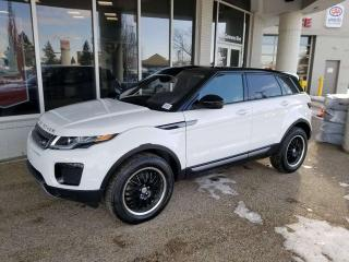 Used 2018 Land Rover Evoque SE; FULLY LOADED, NAV, MOONROOF, BLUETOOTH, BACKUP CAM, HEATED SEATS, 2 SETS OF TIRES AND RIMS! for sale in Edmonton, AB