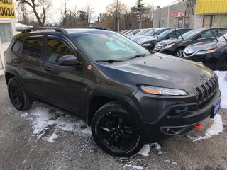 Used 2016 Jeep Cherokee TRAILHAWK/ V6/ 4x4/ LEATHER/ NAVI/ CAM & MUCH MORE for sale in Scarborough, ON