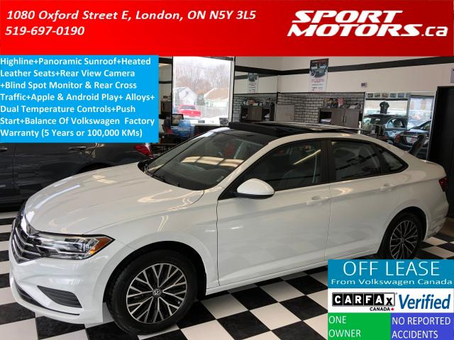 2019 Volkswagen Jetta Highline+Heated Leather+Apply Play+Blind Spot+USB