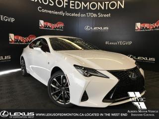 Used 2019 Lexus RC 350 DEMO UNIT - F SPORT SERIES 3 for sale in Edmonton, AB