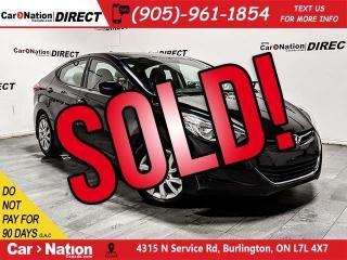 Used 2013 Hyundai Elantra GL| HEATED SEATS| LOCAL TRADE| for sale in Burlington, ON