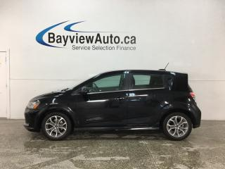 Used 2018 Chevrolet Sonic LT Auto - AUTO! SUNROOF! APPLE CARPLAY! ANDROID AUTO! ALLOYS! for sale in Belleville, ON