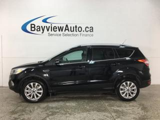 Used 2018 Ford Escape Titanium - 4WD! SUNROOF! HTD LTHR! NAV! for sale in Belleville, ON