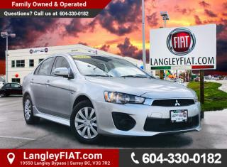 Used 2016 Mitsubishi Lancer ES Bluetooth and Heated Seats! B.C. Owned! for sale in Surrey, BC