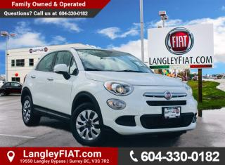 Used 2016 Fiat 500 X Pop Touchscreen Stereo, Bluetooth and Satellite Radio! No Accidents, B.C. Owned! for sale in Surrey, BC