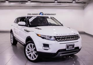 Used 2012 Land Rover Evoque Pure Plus Coupe -BACK UP CAM| NO ACCIDENTS|LOW KMS for sale in Newmarket, ON