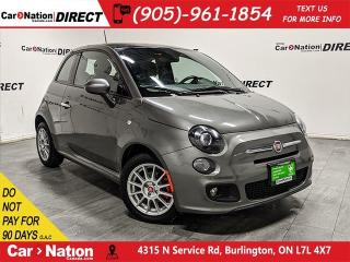 Used 2013 Fiat 500 | LEATHER| SUNROOF| LOCAL TRADE| for sale in Burlington, ON