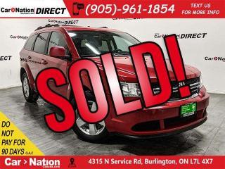 Used 2016 Dodge Journey SE Plus| 7-PASSENGER| DVD| BACK UP CAM & SENSORS| for sale in Burlington, ON