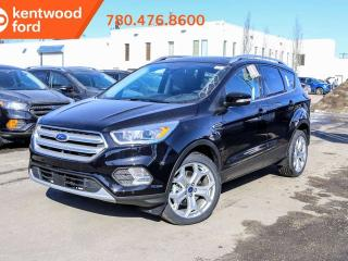 New 2019 Ford Escape Titanium safe/smart + roof pkg 400A 2.0L 4WD ecoboost, NAV, panoramic roof, heated power seats, keyless entry, reverse camera/sensing system for sale in Edmonton, AB