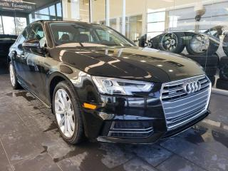 Used 2018 Audi A4 Sedan PROGRESSIV, HEATED STEERING, NAVI, REAR VIEW CAMERA for sale in Edmonton, AB
