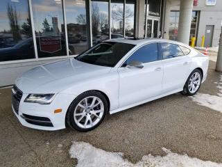 Used 2013 Audi S7 **FREE ONE YEAR WARRANTY** S7; HUD, FULLY LOADED, NAV, BACKUP CAM, HEATED SEATS, SUNROOF, V8 AND MORE for sale in Edmonton, AB
