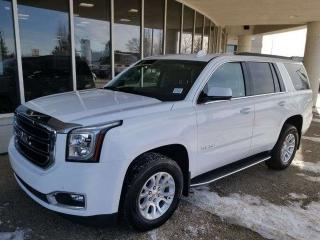 Used 2016 GMC Yukon SLT; LEATHER, 8 PASS, BLUETOOTH, BACKUP CAM, ACTIVE CRUISE AND MORE for sale in Edmonton, AB