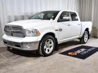Used 2014 RAM 1500 1500 LARAMIE LONGHORN CREW CAB ECODIESEL   LEATHER   NAVIGATION   BACKUP CAMERA   HEATED & COOLED FRONT SEATS   HEATED BACK SEATS   HEATED STEERING WHEEL   MOONROOF for sale in Red Deer, AB