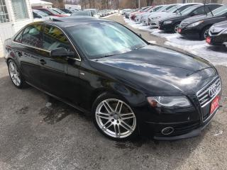 Used 2010 Audi A4 PREMIUM/ QUATTRO/ S-LINE/ 6 SPEED/ ALLOYS/ LOADED! for sale in Scarborough, ON