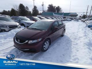 Used 2014 Honda Civic 4 portes, boîte manuelle, LX for sale in Victoriaville, QC