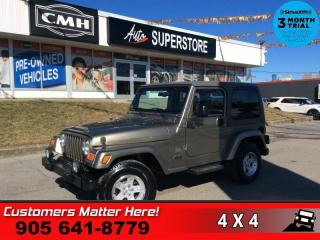 Used 2004 Jeep TJ Sahara  SAHARA MANUAL 2-TOPS ALLOYS for sale in St. Catharines, ON
