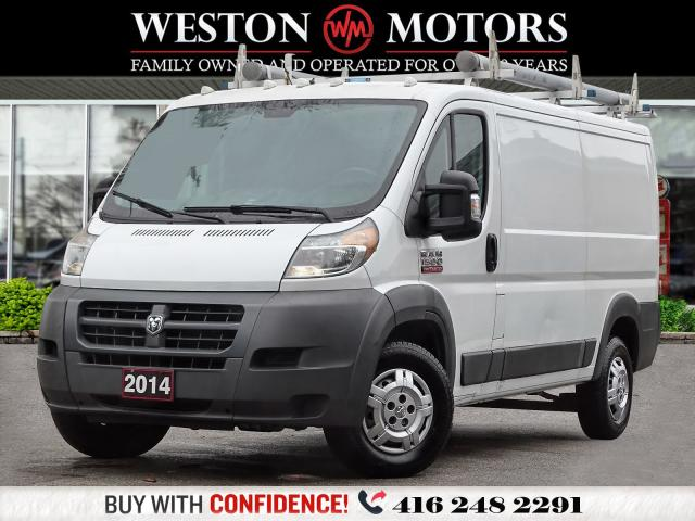 2014 RAM ProMaster 1500*LOW ROOF*ROOF RACK*SHELVING!!*