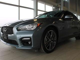 Used 2015 Infiniti Q50 SPORT TECH/ALL WHEEL DRIVE/NAVIGATION/LANE DEPARTURE/BLIND SPOT for sale in Edmonton, AB
