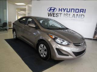 Used 2016 Hyundai Elantra L+ AUTO TRACTION AVANT for sale in Dorval, QC