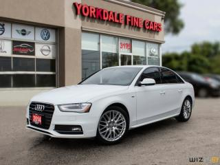Used 2014 Audi A4 2.0 Progressiv S LINE, NAVIGATION, CAMERA, BLIND SPOT, CLEAN for sale in Toronto, ON