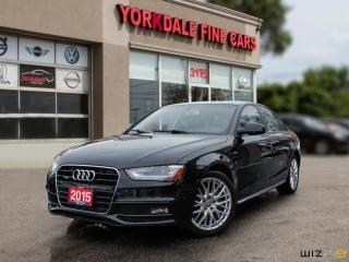 Used 2015 Audi A4 2.0L TURBO, QUATTRO, S LINE, RARE 6 SPD for sale in Toronto, ON