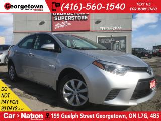 Used 2016 Toyota Corolla LE | B/U CAM | HTD SEATS | USB/AUX IN | BLUETOOTH for sale in Georgetown, ON