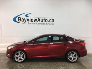 Used 2016 Ford Focus Titanium - LTHR! NAV! SUNROOF! for sale in Belleville, ON